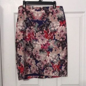 Talbots petite floral pencil skirt